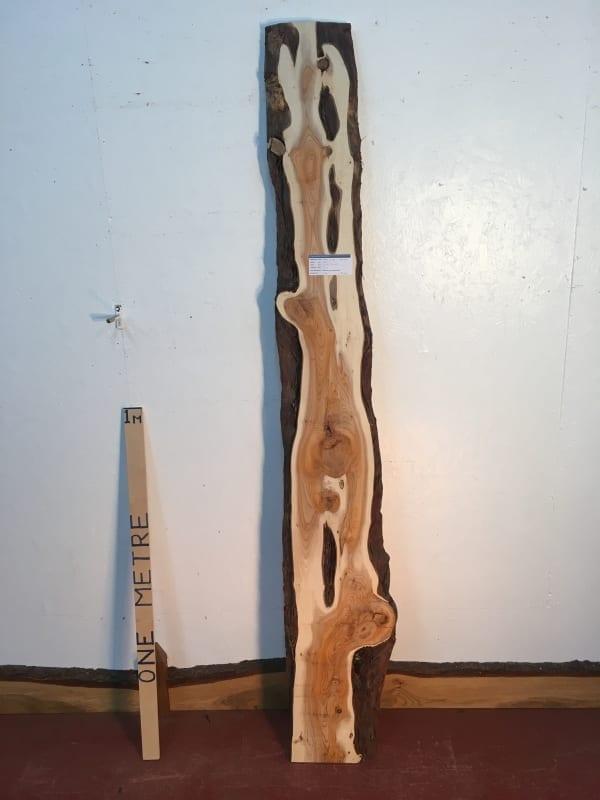 YEW Natural Waney Live Edge Slab Wood Board 1422B-4