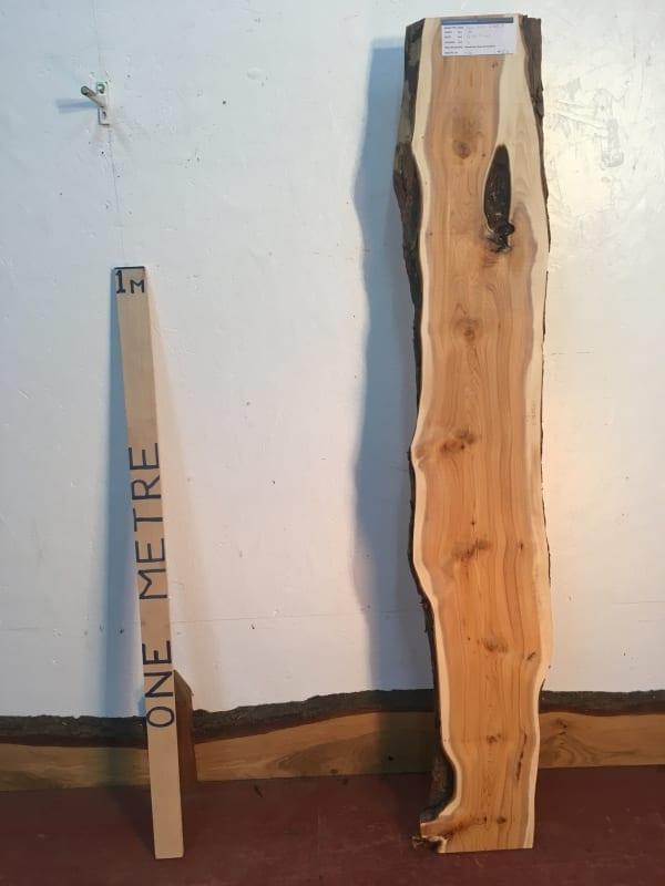 YEW Natural Waney Live Edge Slab Wood Board 1438B-3