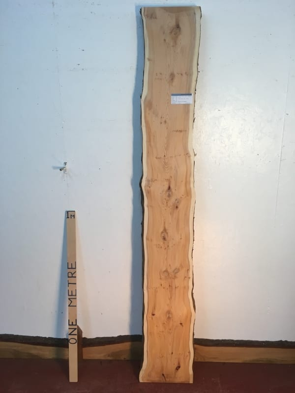 PIPPY YEW Natural Waney Live Edge Slab Wood Board 1443A-2