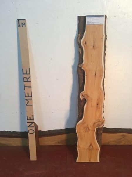 YEW Natural Waney Live Edge Slab Wood Board 1440C-2B