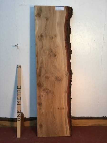 BURRY OAK Single Waney Natural Live Edge Board 1245A-1A
