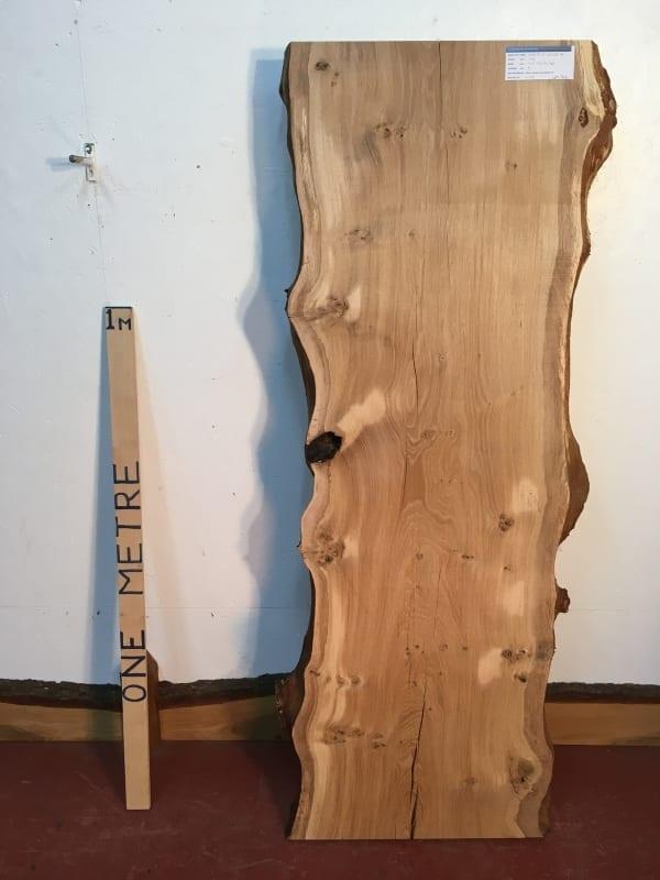 OAK Natural Waney Live Edge Slab Wood Board 1245D-4