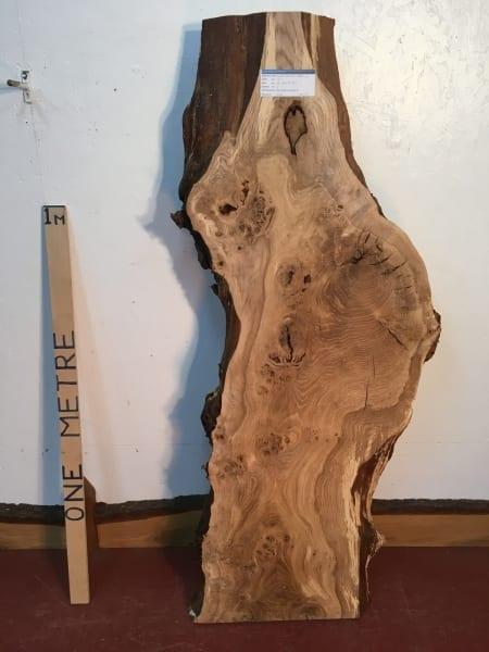 BURRY OAK Natural Waney Live Edge Slab Wood Board 1245D-0