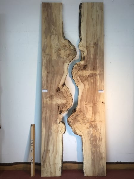 BURRY HORSE CHESTNUT Reverse Bookmatched River Set Natural Waney Live Edge Slab Wood Board 1390A-9L/10L