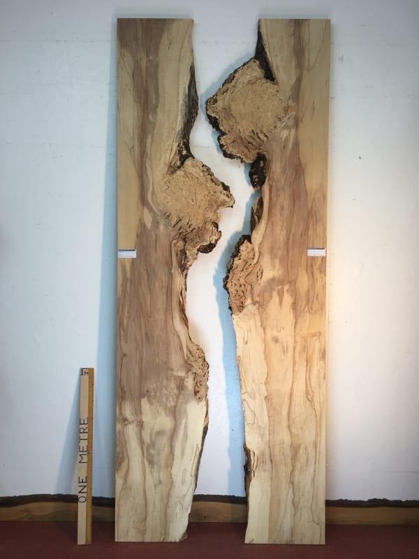 BURRY HORSE CHESTNUT Nested Bookmatched River Set Natural Waney Live Edge Slab Wood Board 1390A-11L/12L