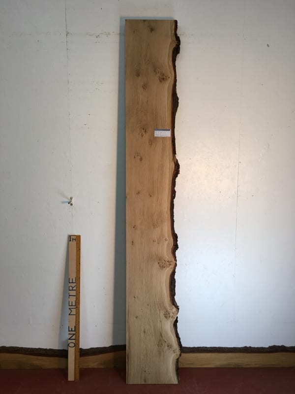 BURRY OAK Single Waney Natural Live Edge Board 1271-6