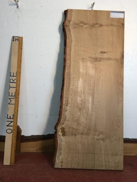 OAK QUARTER SAWN Single Waney Natural Live Edge Board 1245C-4A