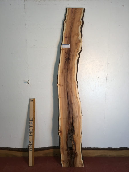 YEW Natural Waney Live Edge Slab Wood Board 1557C-6A