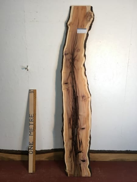 YEW Natural Waney Live Edge Slab Wood Board 1557C-7A