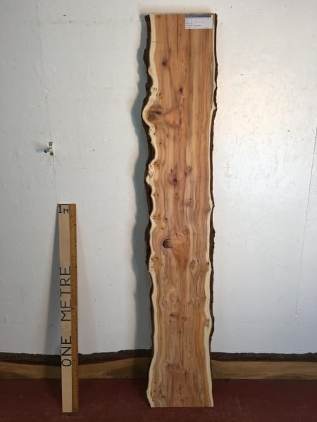 YEW Natural Waney Live Edge Slab Wood Board 1557A-7L