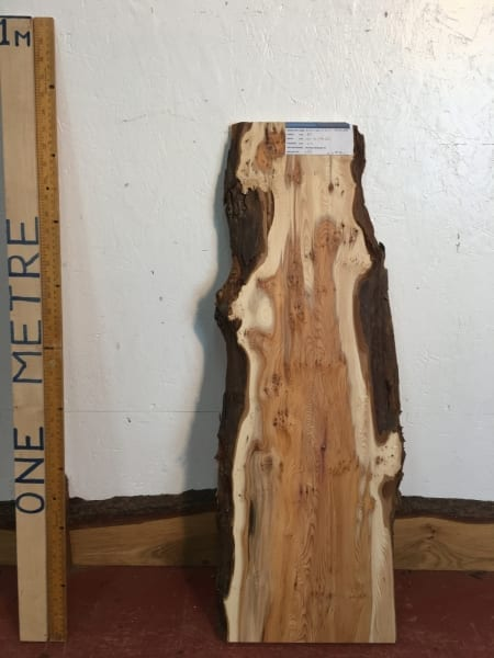 PIPPY YEW Natural Waney Live Edge Slab Wood Board 1557B-8A