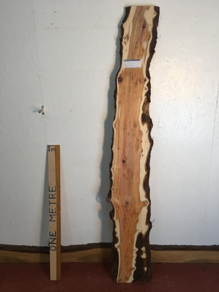 PIPPY YEW Natural Waney Live Edge Slab Wood Board 1557B-2A