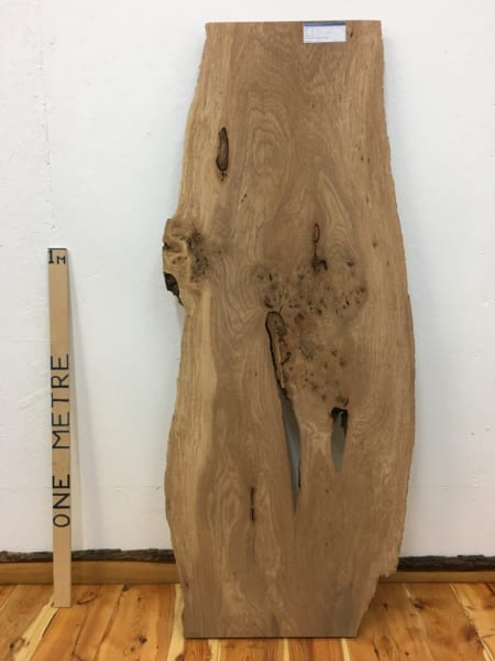 BURRY ELM Natural Waney Live Edge Slab Wood Board 1536A-1