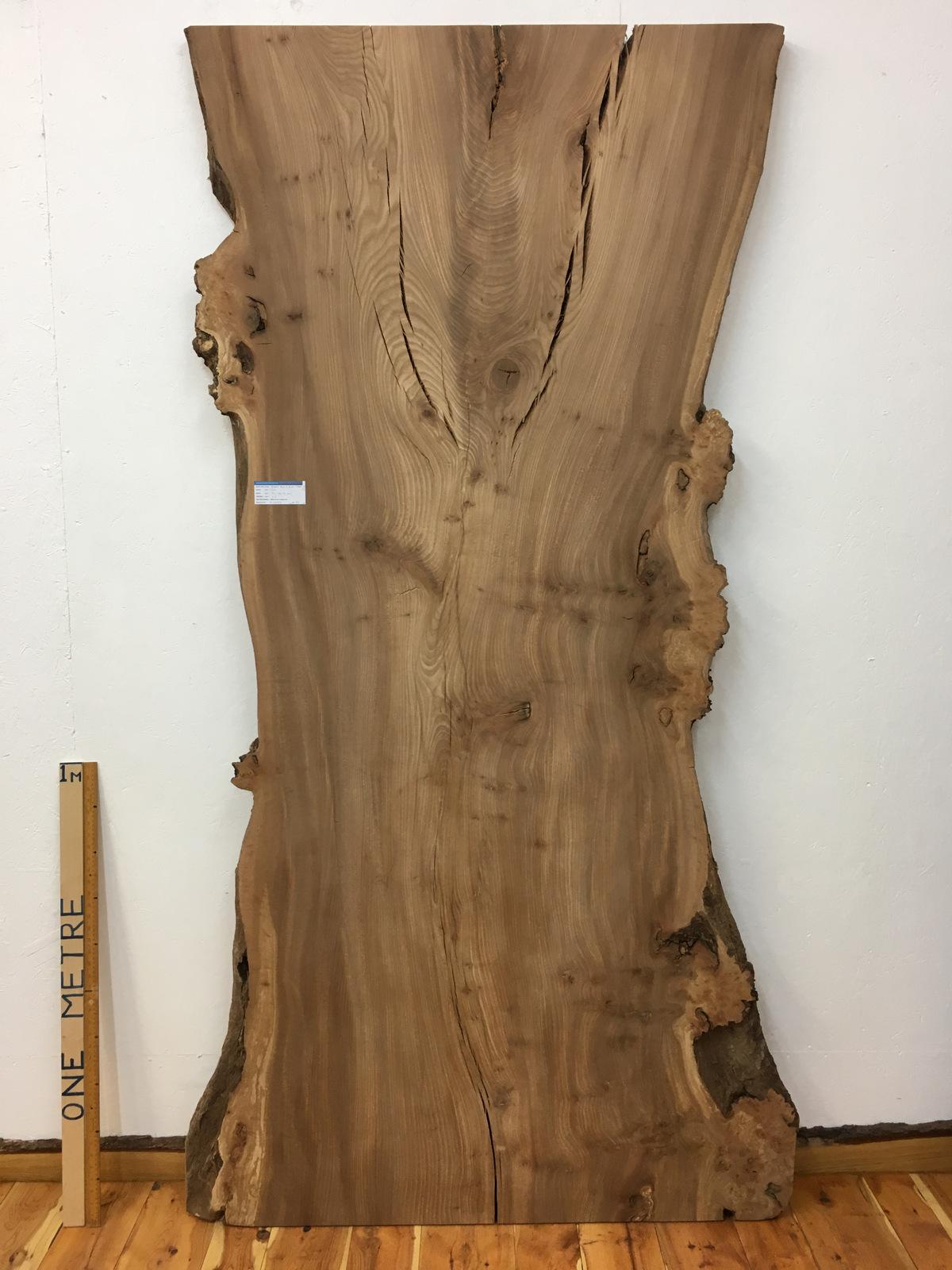 BURRY ELM Natural Waney Live Edge Slab Wood Board 1536A-8