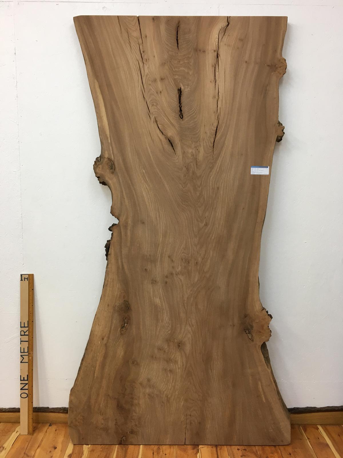 BURRY ELM Natural Waney Live Edge Slab Wood Board 1536A-9