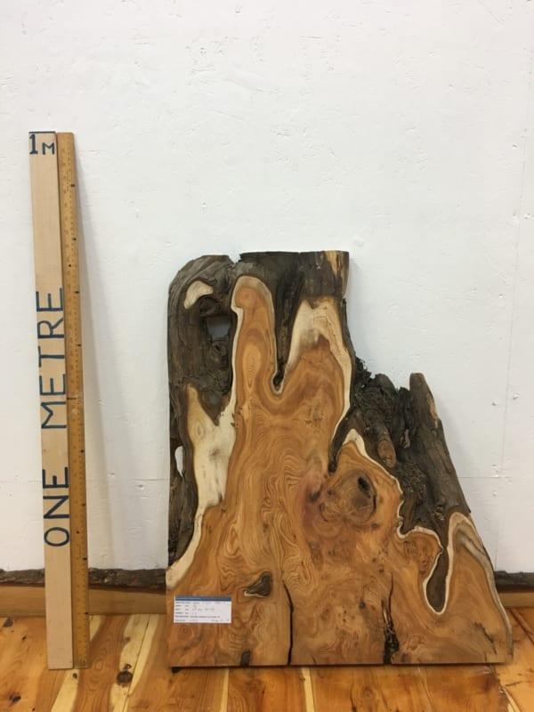 YEW Natural Waney Live Edge Slab Wood Board 1462-2