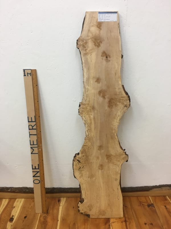 BURRY BIRCH Natural Waney Edge Slab Wood Board 1627-4