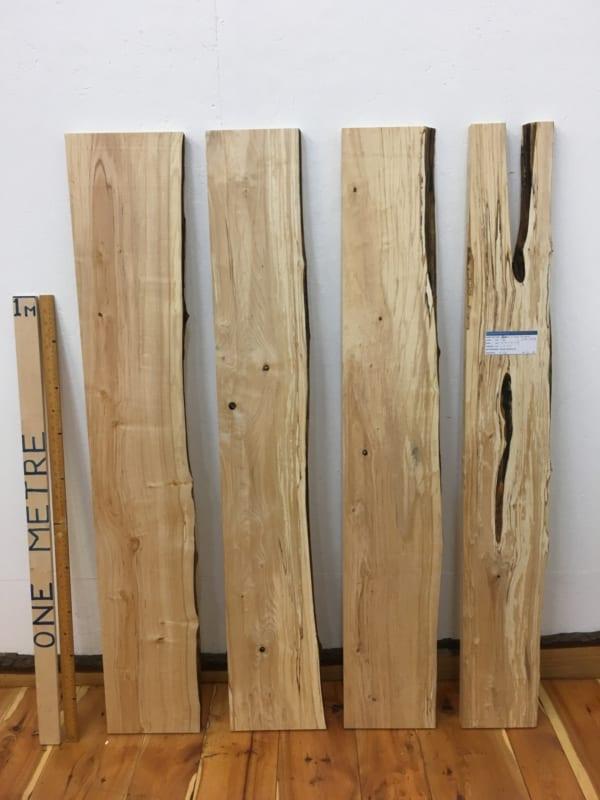 BIRCH BUNDLE Single Waney Natural Edge Timber Board Set 1630-4/7/9