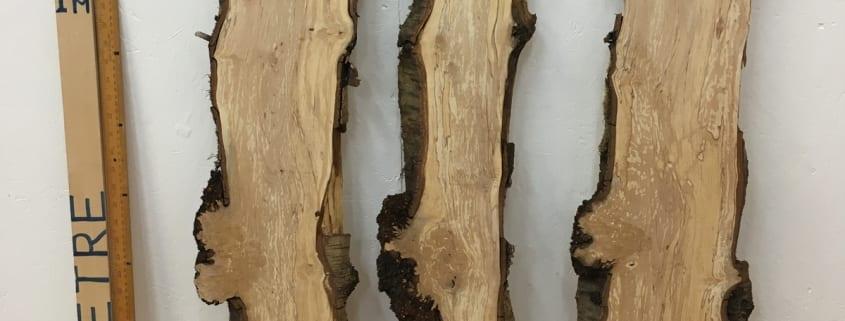 BURRY BIRCH BUNDLE Natural Waney Edge Slab Wood Timber Board 1641-2/3/4