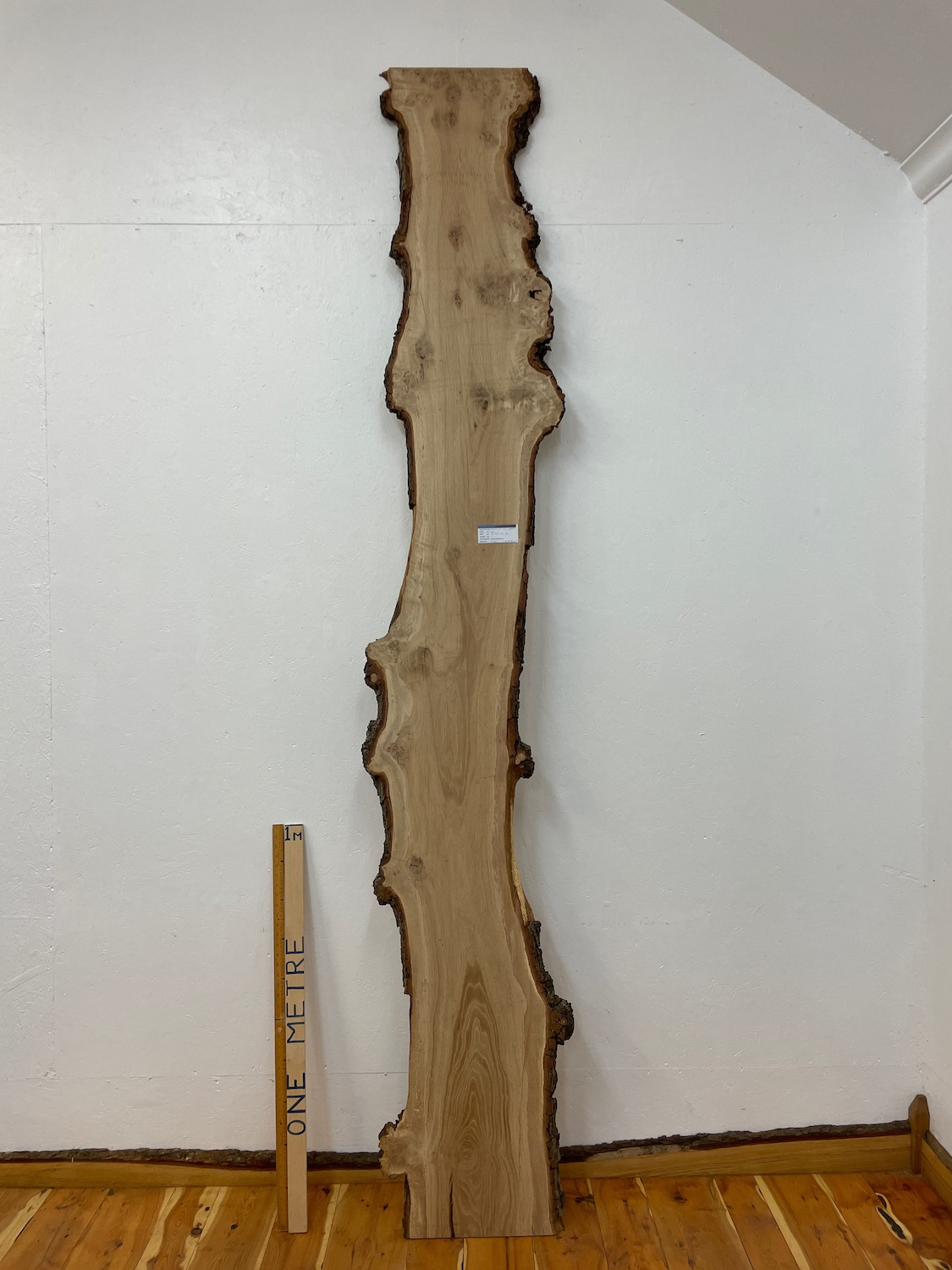 BURRY OAK Natural Waney Edge Slab Wood Timber Board 1559A-3 Thickness 3cm Kiln Dried Planed & Thicknessed Seasoned Hardwood Wildwood