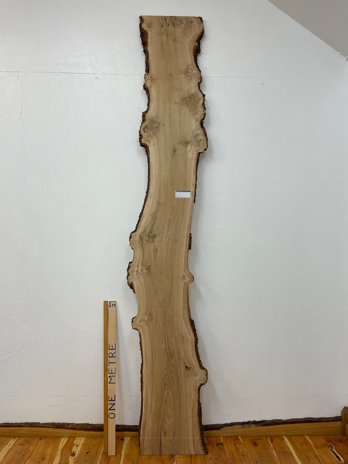 BURRY OAK Natural Waney Edge Slab Wood Timber Board 1559A-4 Thickness 3cm Kiln Dried Planed & Thicknessed Seasoned Hardwood Wildwood