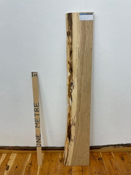 OAK Single Waney Natural Edge Board 1564A-13A Thickness 3.2cm Kiln Dried Planed & Thicknessed Seasoned Hardwood Live Edge Shelf