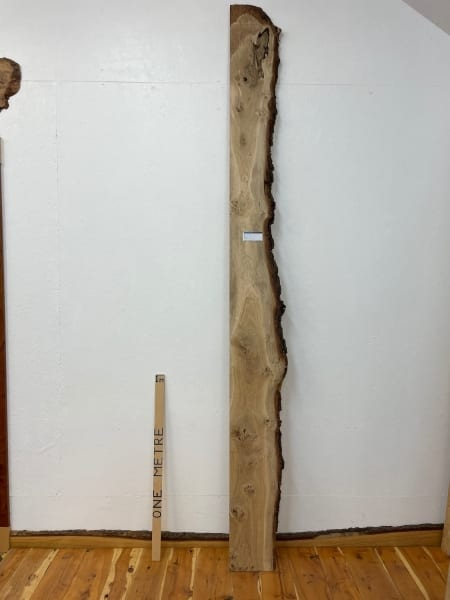 PIPPY OAK Single Waney Natural Edge Board 1560B-3 Thickness 2.7cm Kiln Dried Planed & Thicknessed Seasoned Hardwood Live Edge Wildwood