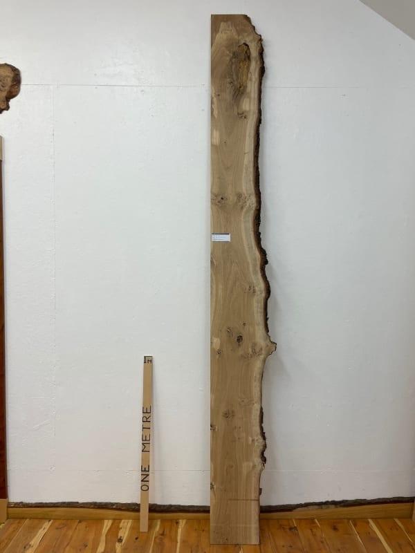 PIPPY OAK Single Waney Natural Edge Board 1560B-4 Thickness 2.7cm Kiln Dried Planed & Thicknessed Seasoned Hardwood Live Edge Wildwood