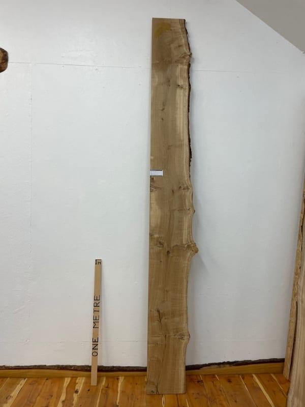 PIPPY OAK Single Waney Natural Edge Board 1560B-6 Thickness 2.7cm Kiln Dried Planed & Thicknessed Seasoned Hardwood Live Edge Wildwood