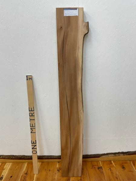 ELM Single Waney Natural Edge Board 1546D-3R Thickness 6.5cm Kiln Dried Planed & Thicknessed Seasoned Hardwood Live Edge