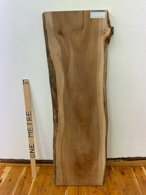 ELM Natural Waney Edge Slab Wood Timber Board 1546D-2 Thickness 7cm Kiln Dried Planed & Thicknessed Seasoned Hardwood